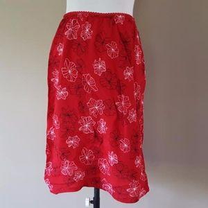 Red Slip Skirt 8P Style & Co